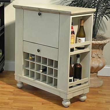 ECI Furniture Spirit Bar Cart; Antique White
