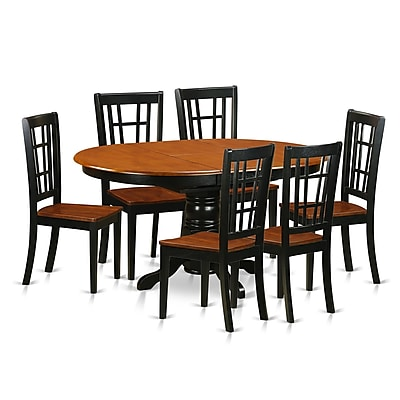 East West 7 Piece Dining Set