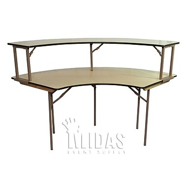 Midas Event Supply Elite Semi Circle Folding Table; 60'' x 120''