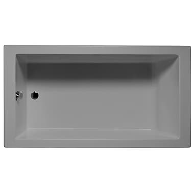 Malibu Home Inc. Venice 72'' x 32'' Soaking Bathtub; Sterling Silver