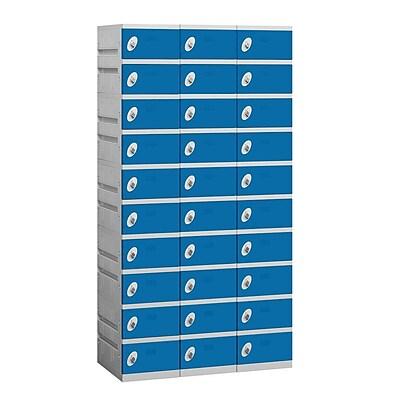Salsbury Industries 10 Tier 3 Wide Employee Locker; Blue