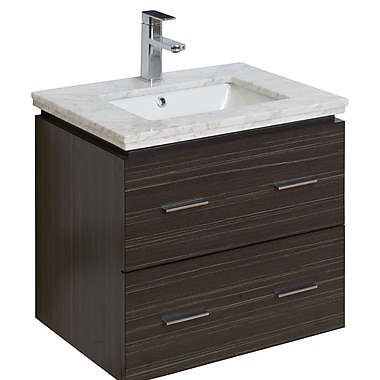 American Imaginations 24'' Single Modern Wall Mount Bathroom Vanity Set; Aluminum