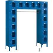 Salsbury Industries 6 Tier 5 Wide Safety Locker; Blue