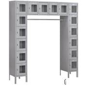 Salsbury Industries 6 Tier 5 Wide Safety Locker; Gray