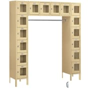 Salsbury Industries 6 Tier 5 Wide Safety Locker; Tan