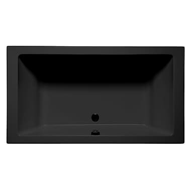 Malibu Home Inc. Naples 66'' x 36'' Air Bathtub; Black