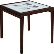 Domitalia Poker Extendable Dining Table; Cherry