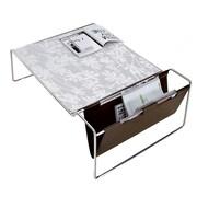 Domitalia Bijou Coffee Table; White Glass Pattern