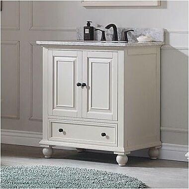Avanity Thompson 30'' Bathroom Vanity Base; True White