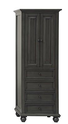 Avanity Thompson 24'' W x 68'' H Linen Tower; Charcoal Glaze