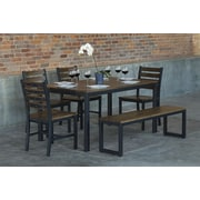 Elan Furniture Loft  6 Piece Dining Set; Chocolate Spice