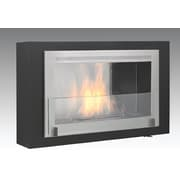 Eco-Feu Montreal Wall Mount Ethanol Fireplace; Matte Stainless Black