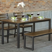 Elan Furniture Loft 4 Piece Dining Set; Chocolate Spice