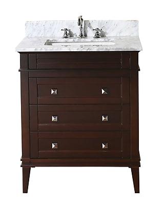 KBC Eleanor 30'' Single Bathroom Vanity Set; Chocolate