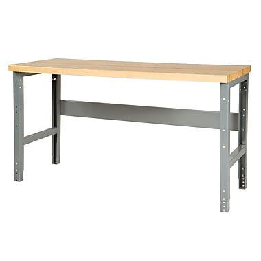 Parent Metal Products Adjustable Height Steel Top Workbench; 34.75'' H x 48'' W x 29'' D