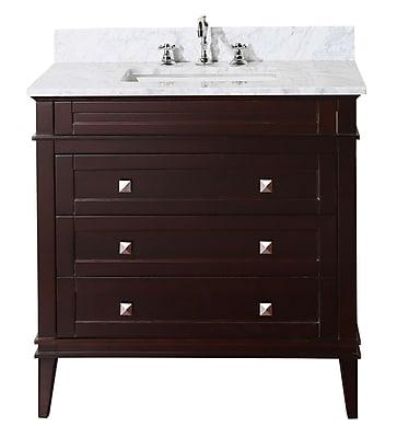 KBC Eleanor 36'' Single Bathroom Vanity Set; Chocolate