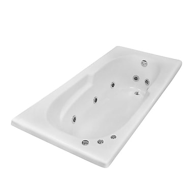 Carver Tubs Hygienic Aqua Massage 72'' x 36'' Whirlpool Bathtub; Right