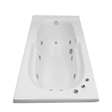 Carver Tubs Hygienic Aqua Massage 72'' x 36'' Whirlpool Bathtub; Left