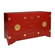 TVLIFTCABINET, Inc Dynasty TV Stand; Red