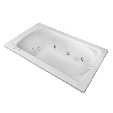 Carver Tubs Hygienic Aqua Massage 60'' x 36'' Whirlpool Bathtub; Right