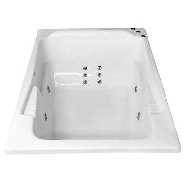 Carver Tubs Hygienic Aqua Massage 71'' x 48'' Whirlpool Bathtub; Right