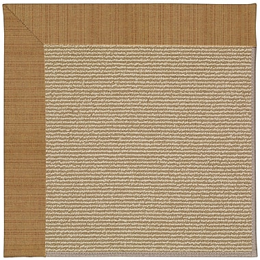 Capel Zoe Machine Tufted Golden/Brown Indoor/Outdoor Area Rug; Rectangle 9' x 12'