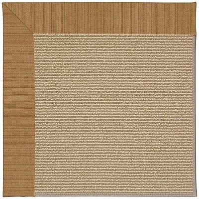 Capel Zoe Machine Tufted Golden/Brown Indoor/Outdoor Area Rug; Rectangle 10' x 14'
