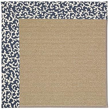 Capel Zoe Machine Tufted Midnight/Brown Indoor/Outdoor Area Rug; Rectangle 10' x 14'