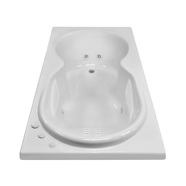 Carver Tubs Hygienic Aqua Massage 72'' x 42'' Whirlpool Bathtub; Right