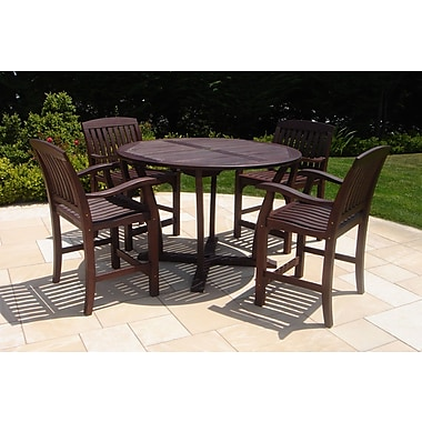 Royal Teak 5 Piece Dining Set