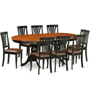 Wooden Importers Newton 9 Piece Dining Set; Black / Cherry