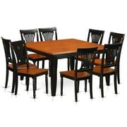 Wooden Importers Parfait 9 Piece Dining Set; Black / Cherry