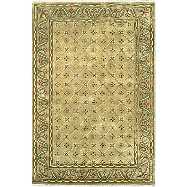 American Home Rug Co. English Hand-Tufted Beige Area Rug; 3'6'' x 5'6''