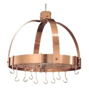 Old Dutch Dome Decor Pot Rack w/ Grid and Hooks; Copper