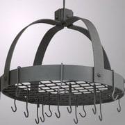 Old Dutch Dome Decor Pot Rack w/ Grid and Hooks; Graphite