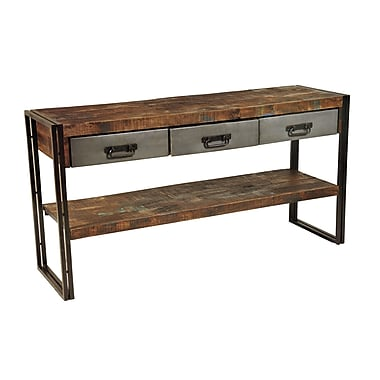 MOTI Furniture 3 Drawer Console Table