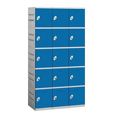 Salsbury Industries 5 Tier 3 Wide Employee Locker; Blue