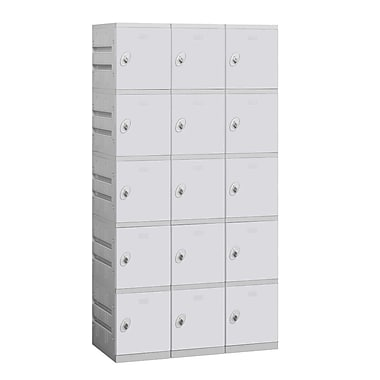 Salsbury Industries 5 Tier 3 Wide Employee Locker; Gray
