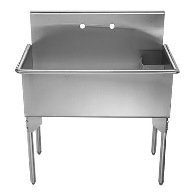 Whitehaus Collection Pearlhaus 39'' x 21'' Single Freestanding Utility Sink