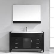 Virtu Ava 55'' Single Bathroom Vanity Set w/ Mirror; Espresso