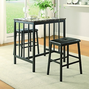Woodhaven Hill Edgar 3 Piece Counter Height Pub Table Set