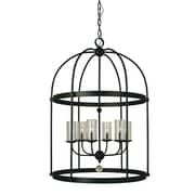 Framburg Compass 6-Light Foyer Pendant; Matte Black