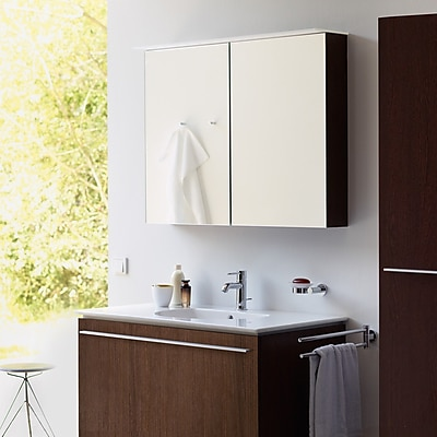 Duravit 31.5'' x 29.88'' Surface Mount Medicine Cabinet w/ Lighting