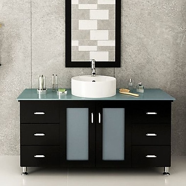 JWH Living Grand Lune 47'' Single Vessel Modern Bathroom Vanity Set