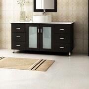 JWH Living Grand Lune 47'' Single Vessel Modern Bathroom Vanity Set