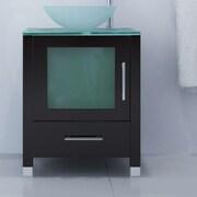 JWH Living 24'' Single Soft Focus Vessel Sink Modern Bathroom Vanity Set
