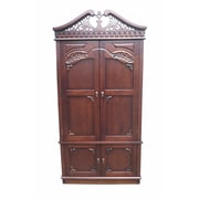 D-Art Collection Carved Top Armoire