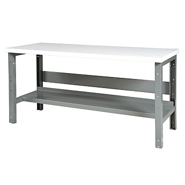 Parent Metal Products Adjustable Height Steel Top Workbench; 34.75'' H x 72'' W x 29'' D