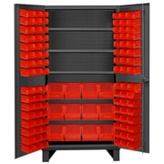 Durham Manufacturing 78'' H x 36'' W x 24'' D Lockable Cabinet; Red