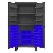 Durham Manufacturing 78'' H x 36'' W x 24'' D Lockable Cabinet; Blue